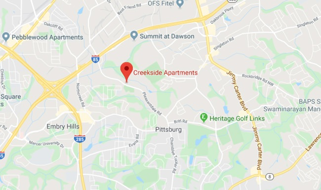 map location of creekside apartments